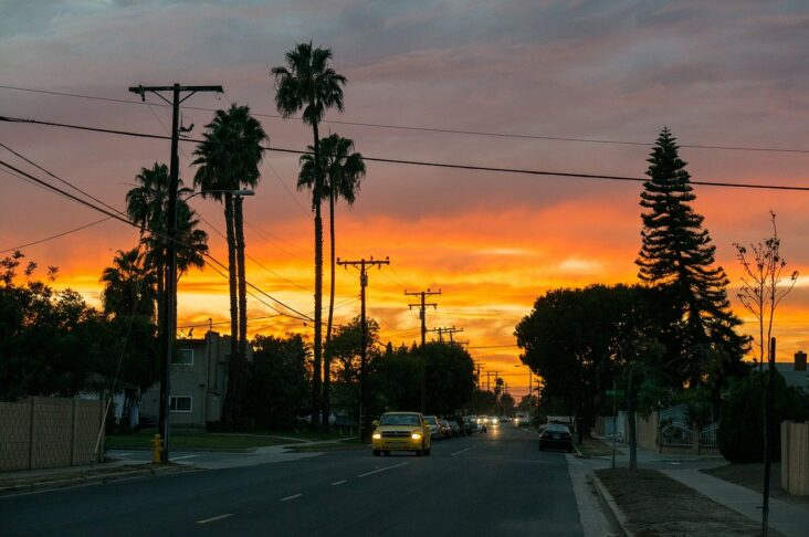 Sunset in Los Angeles, CA.